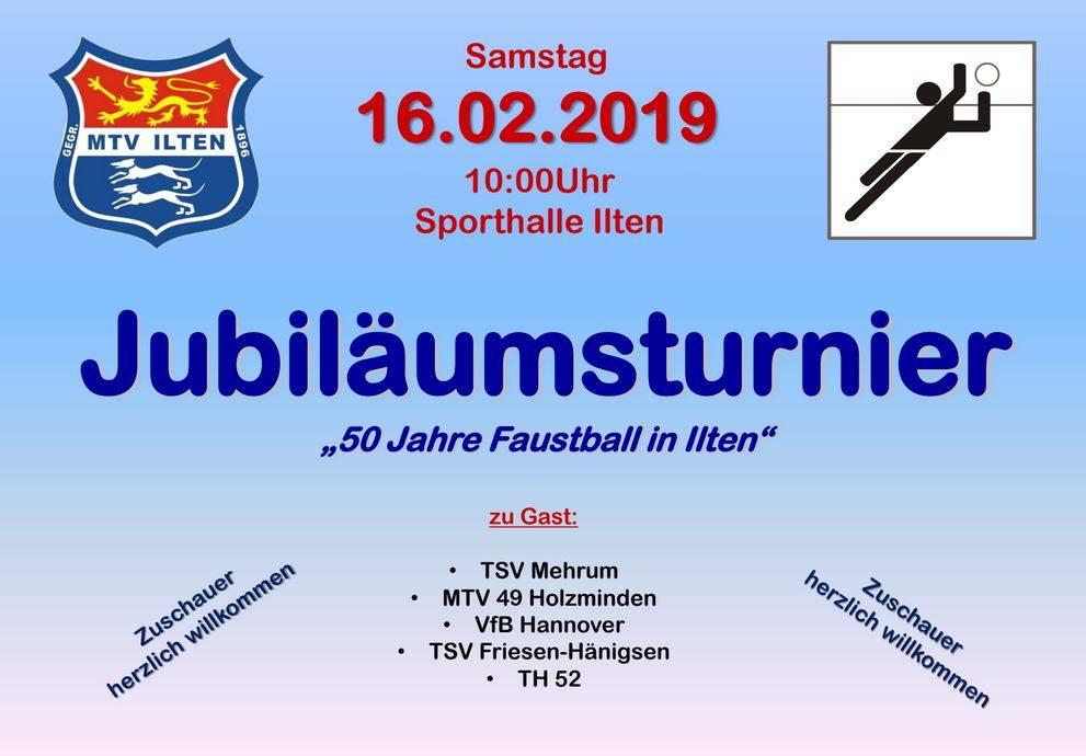 """Jubiläumsturnier """"50 Jahre Faustball in Ilten"""" @ Sporthalle Ilten"""
